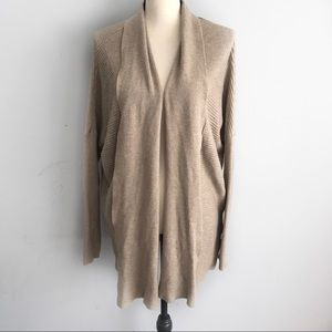 Maurices taupe dolman sleeve ribbed knit cardigan